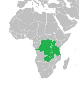 Afrika, Regiokaart Oot Afrika